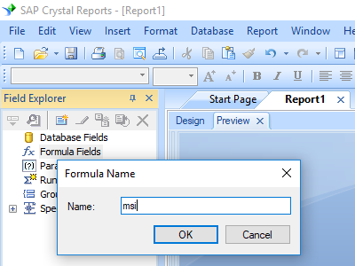 msi barcode crystal reports create formula