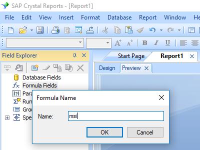 msi barcode crystal reports create formula