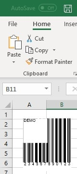 office 365 excel insert code39 barcode