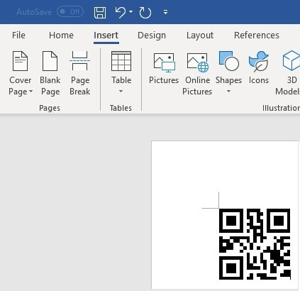 QRCode barcode in office 365 Word