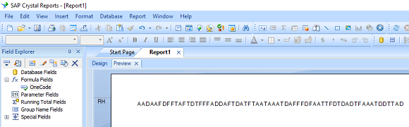 onecode barcode crystal reports formula field