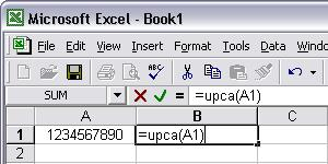 UPCA barcod excel macro