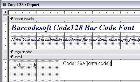 code128 條碼  access 宏