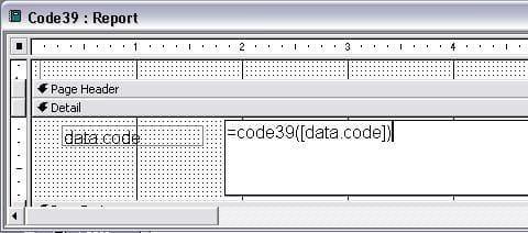 Code39 条码  access 宏