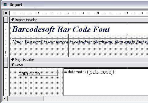 data-matrix  access 宏