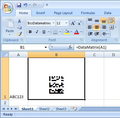 data matrix excel