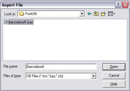 MaxiCode import vba