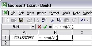 UPCA 條碼 Excel 宏